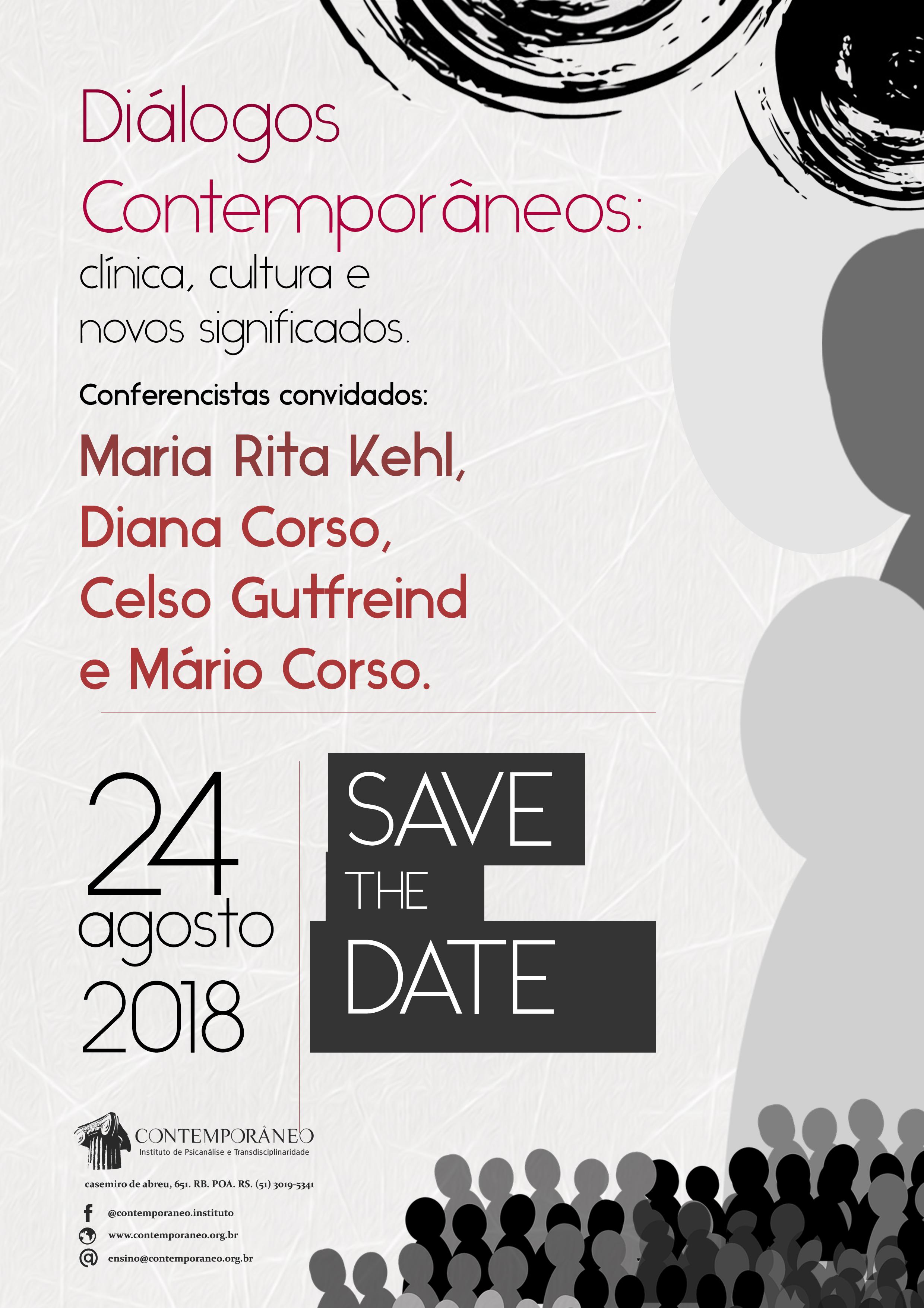 Curso para Jornada 2018 Diálogos Contemporâneos - Profissionais e estudantes de pós-graduação